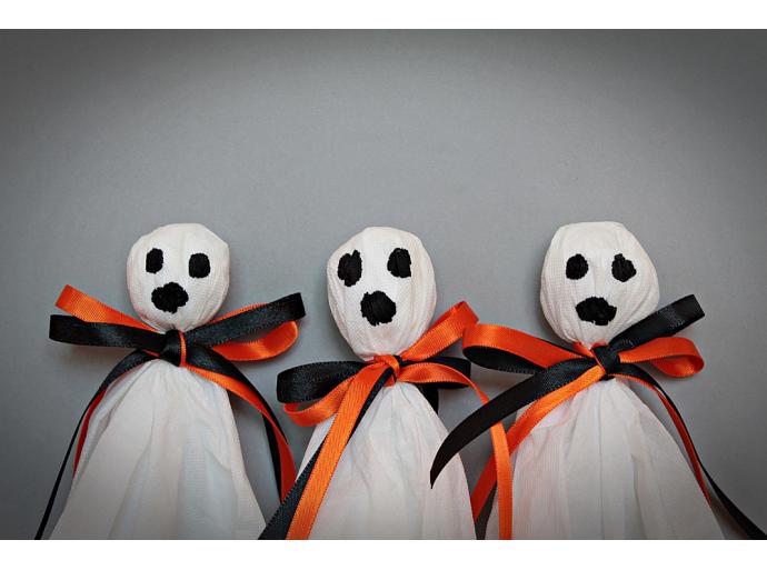 Rubans de satin pour décoration d'Halloween