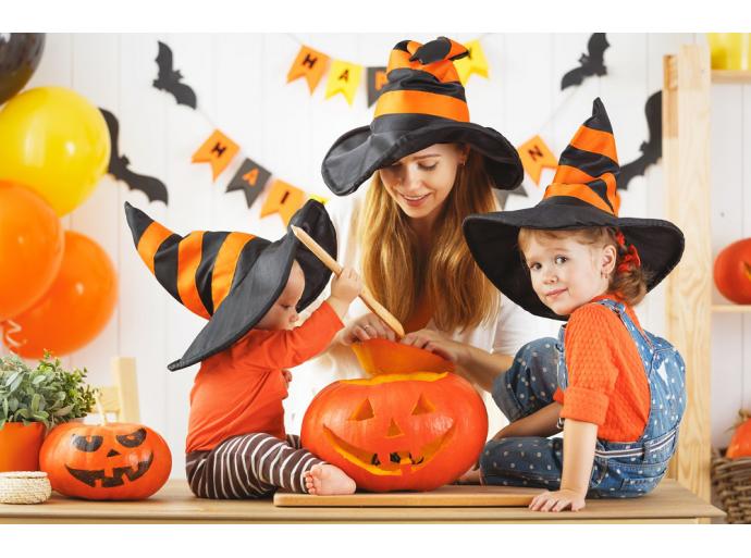 La décoration d'Halloween et le coup de baguette magique