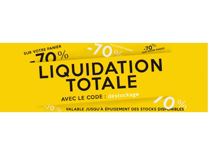 Liquidation totale : -70% sur votre panier